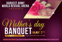 Mothers Day Banquet, Mothers day, harvest army church, harvest army, ns dezigns, nawcious, debo media, harvest army productions