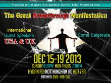 """the great breakthrough manifestation"" england, uk, london, europe, ""harvest army"" usa, gospel, preacher, powerful, Jesus, december, 15, 2013"