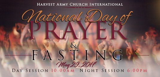 fasting, national day of prayer and fasting, harvest army, church, Jesus