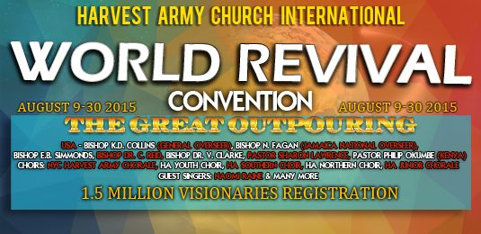 World Revival Convention, Great Gathering, TGG, World Vision Day, Harvest army church