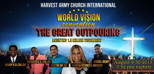 World Vision Convention, Great Gathering, TGG, World Vision Day, Harvest army church